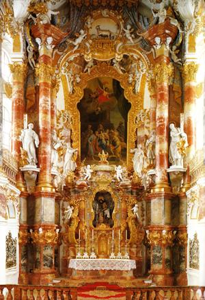 Barokke kerk: altaar