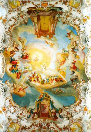 Barokke kerk: plafond