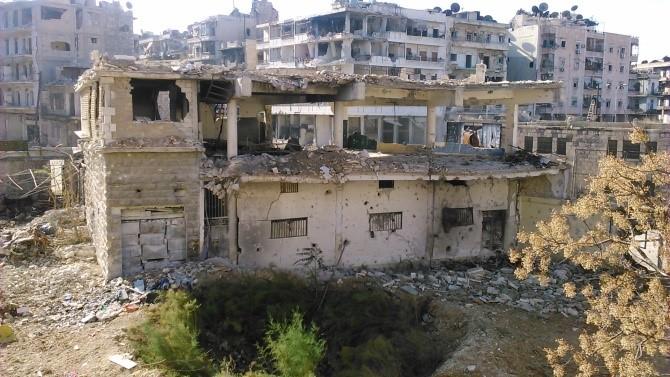 Verwoesting in Aleppo