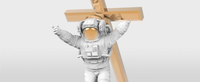 Hoe de astronaut van Klibansky gelovigen een spiegel voorhoudt