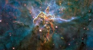 Foto van het heelal en sterren. Gemaakt door Hubble Space Telescope