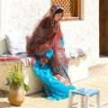 Arabisch dorp, vrouw, orientalis