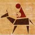 Jozef, Maria op ezel en het kind Jezus in haar schoot, de openbaring van God