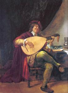 Jan Steen, Zelfportret met luit