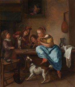 Jan Steen, Kinderen leren katje dansen