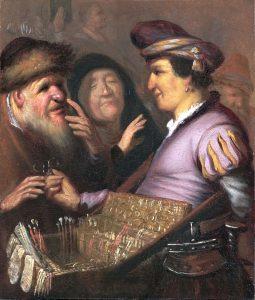 Rembrandt, De brillenverkoper