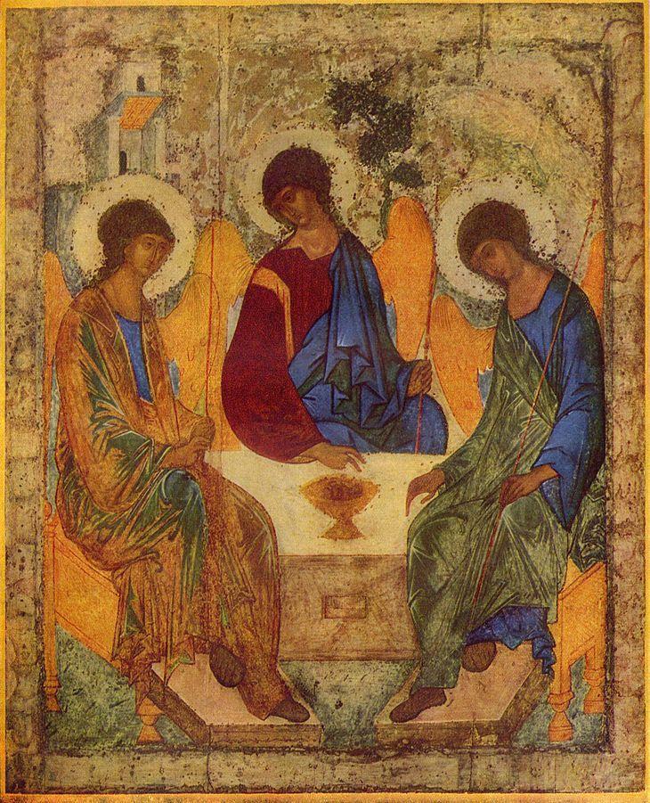 Roebljovs icoon van de Heilige Drie-eenheid