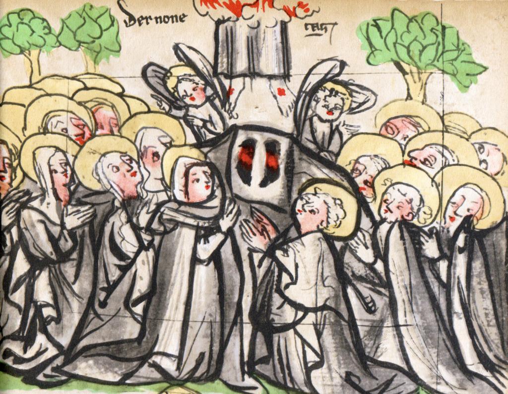 Hemelvaart uit een oude prentenbijbel